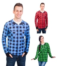 Thermal T-shirt nanosilver - FLANNEL SHIRT PATTERN
