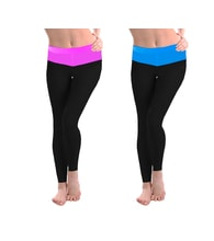 Women's long leggings - black + colour