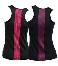 Woman´s fitness tank top nanosilver ACTIVE black with strip