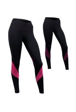 Women's long leggings ACTIVE black + color