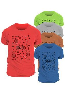 Man´s T-shirt nanosilver CLASSIC imprited BIKE