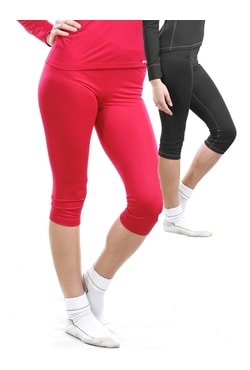 Woman's thermal underpants 3/4 pants nanosilver, RED