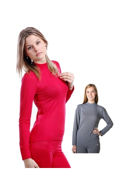 Woman´s thermal T-shirt nanosilver