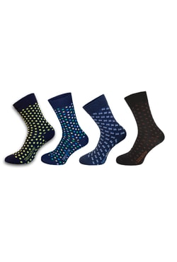 Formal socks with pattern and silver