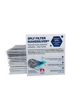 Nanofiber three-ply filter with silver 3PLY FILTER nanosilver® - 2pcs in a package