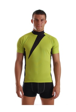 Man's cycling jersey nanosilver EXPRESS, GREEN-BLACK