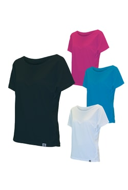 Woman´s T-shirt nanosilver+Coolmax with bat sleeves