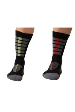 Summer trekking socks with molecules of silver
