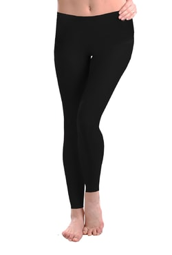 Women's long leggings - colour black
