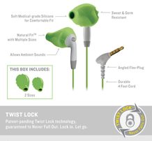 Yurbuds Ironman Inspire For Women Green