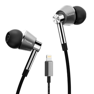 1MORE Triple Driver In-Ear, Lightning (iOS), Silver