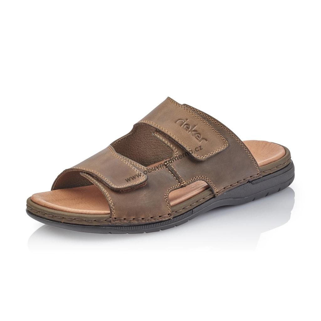 3badac34a750 Pantofle Rieker hnědé 25592-25 - Sandály