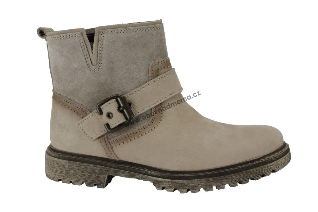94aef71475 Kotníkové boty Weinbrenner béžové - Kotníkové