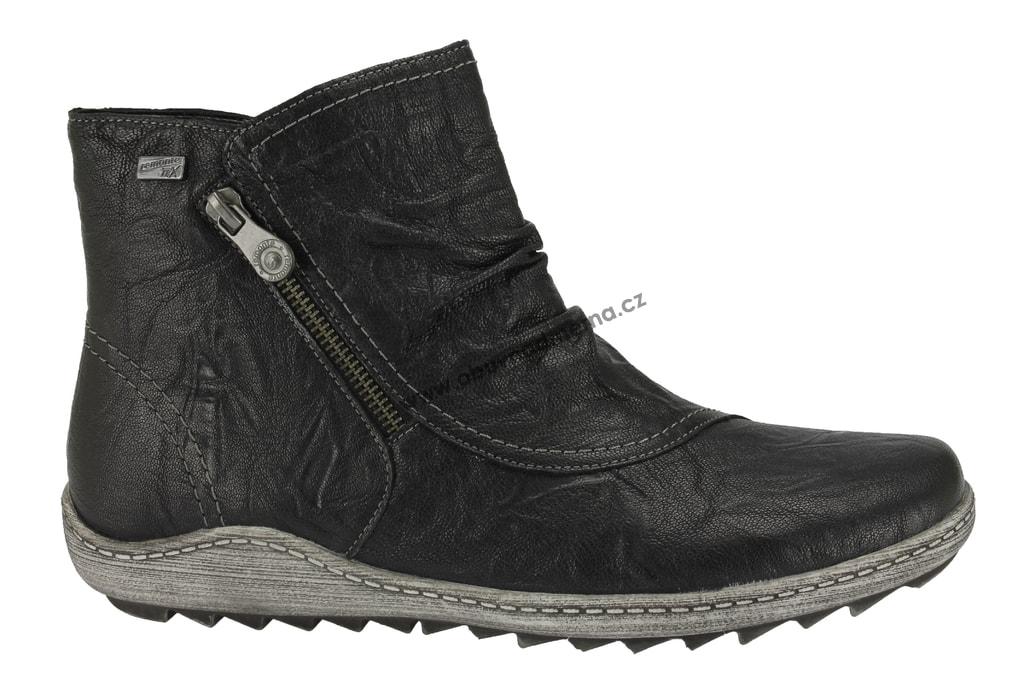 244abbaf2e Nadměrné kotníkové boty Remonte černé R1475-01 - Kotníkové