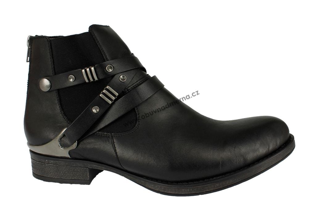 525669f1a3 Nadměrné kotníkové boty Remonte černé - Kotníkové