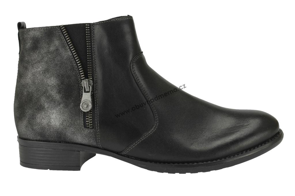 e17955d91c Nadměrné kotníkové zimní boty Remonte černé - Kotníkové