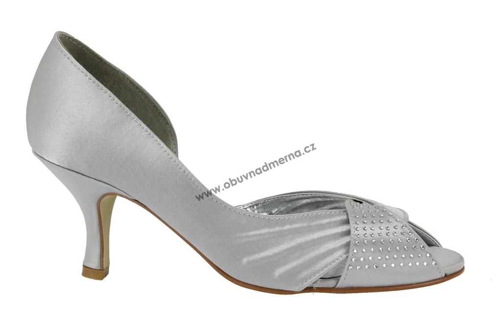 040eec6313 Společenské boty Effe Tre stříbrné - Lodičky