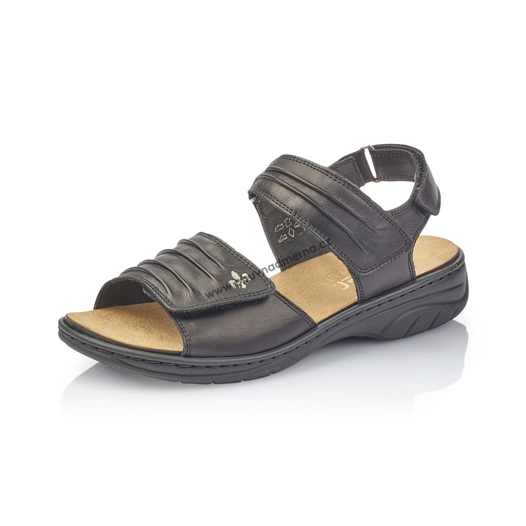 5d07b8bbeb4f Sandály Rieker černé 64560-01 - Sandály