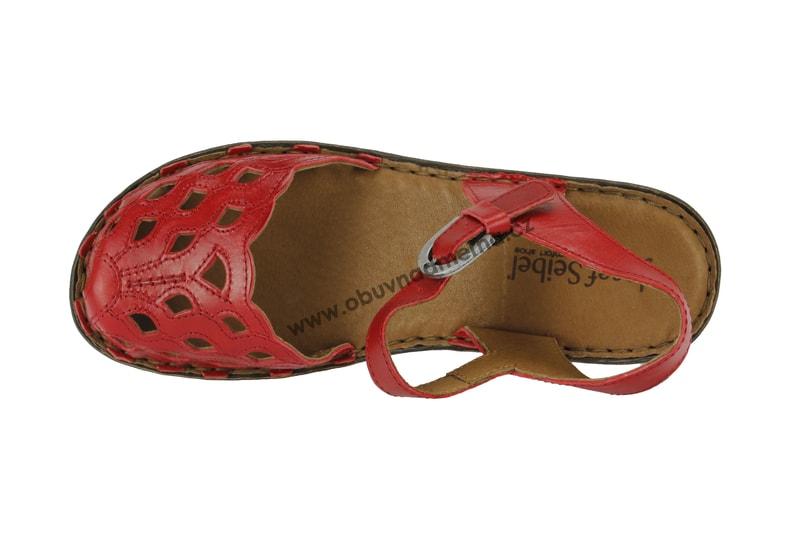 a5b42a8a261a Páskové boty Josef Seibel Rebecca 17 červené 62917 43 019 - Sandály ...