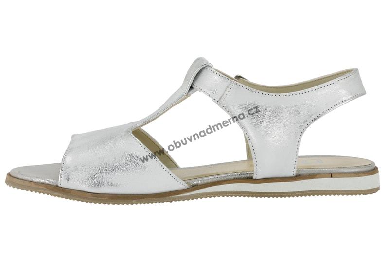 406269ef34 Nadměrné sandály De Plus stříbrné 9726 K - Sandály