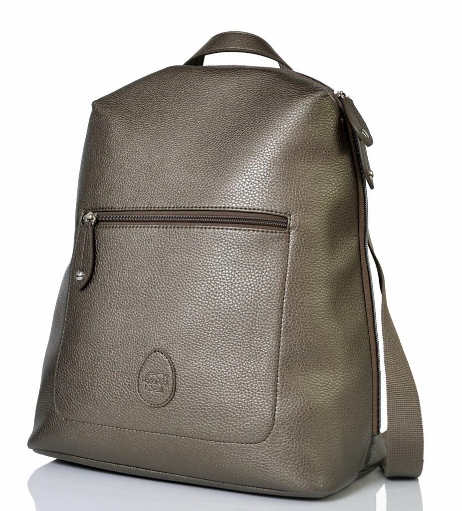 HARTLAND šedostříbrná - přebalovací taška i batoh