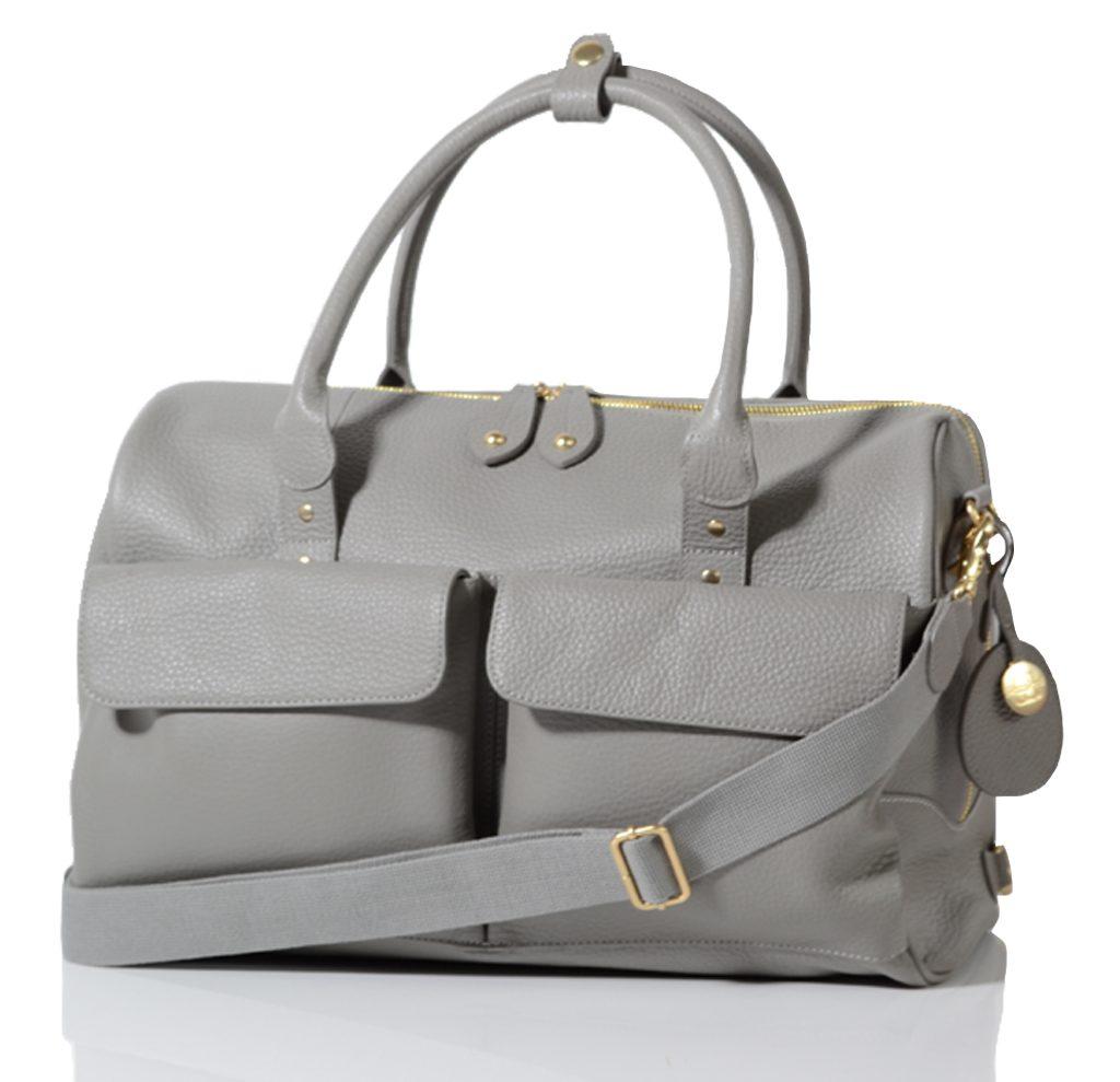 LORETO šedá - luxusní kožená přebalovací taška