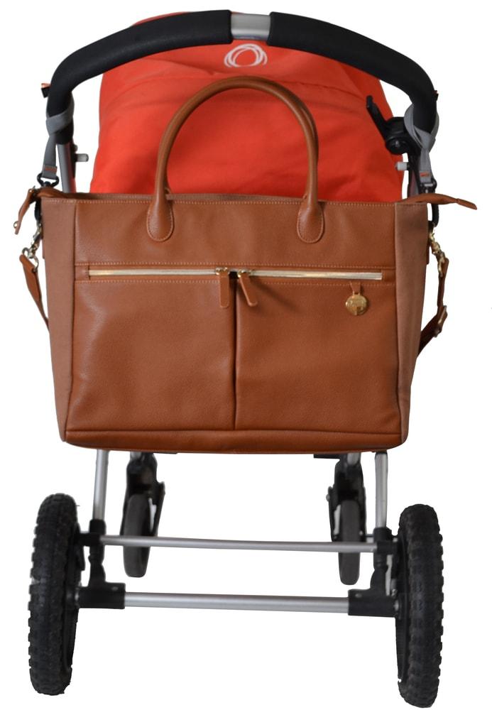 FORTUNA hnědá - přebalovací taška i kabelka