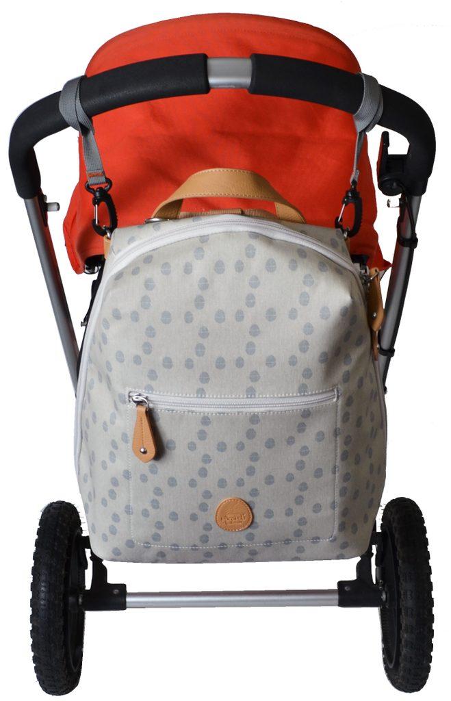 HARTLAND světle šedý se vzorem - přebalovací batoh
