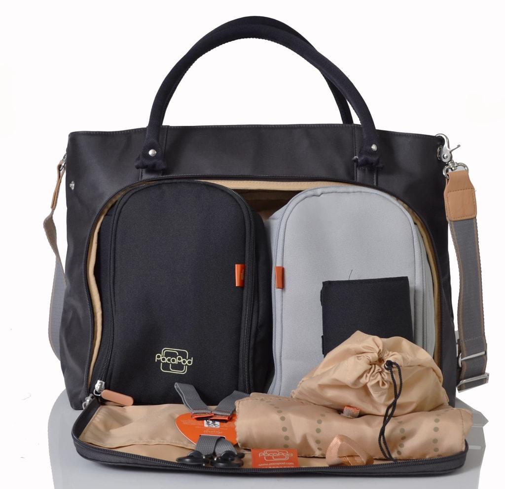 MIRANO grafit - kabelka i přebalovací taška