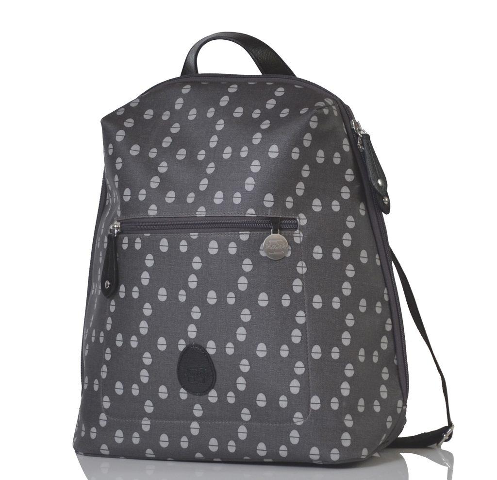 HARTLAND šedá se vzorem - přebalovací batoh