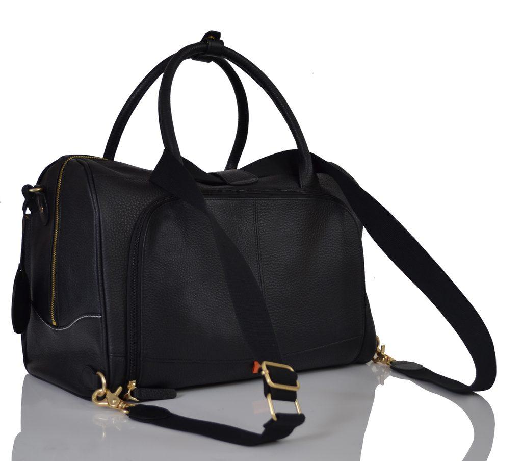 LORETO černá - kožená přebalovací taška i batoh