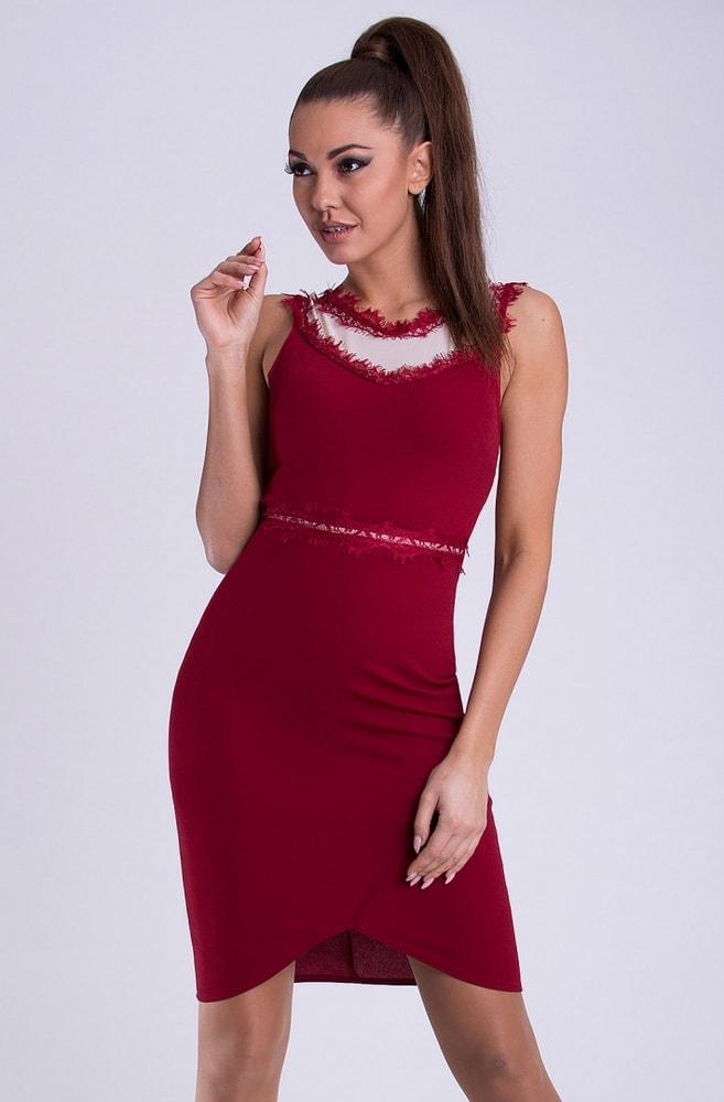 f09bd5223471 Emamoda Dámské pouzdrové šaty červené - L