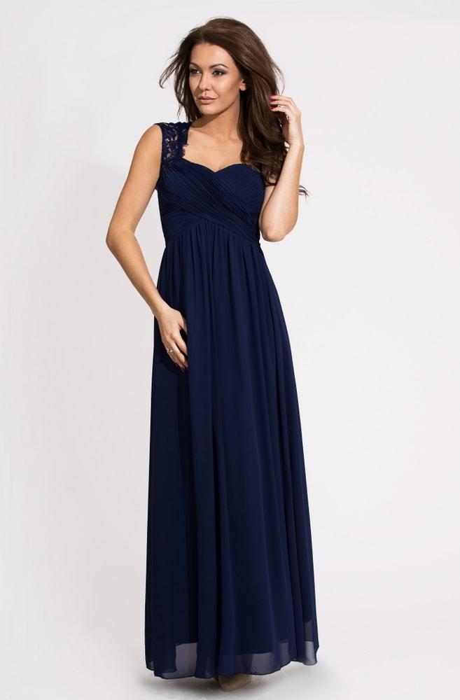 ba6f1c24889e Eva Lola Krásné modré plesové šaty - M