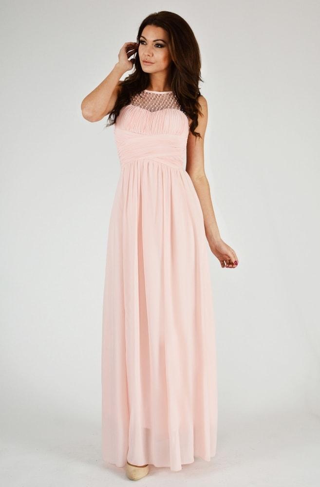 7d7333962ac7 Eva Lola Krásné růžové plesové šaty - L