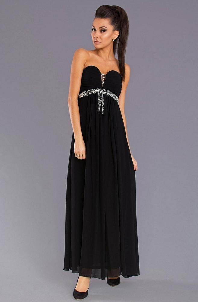 d9eed81c40b1 Pink BOOm Dámské večerní šaty bez ramínek černé - S