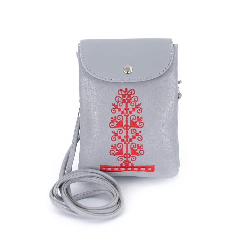 b16ad06e74 Art of Polo Šedá taška přes rameno s červeným detailem