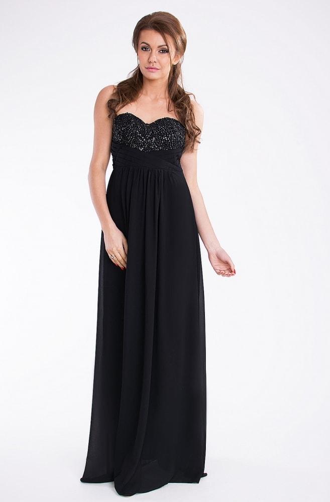 df7d925af0d7 Pink BOOm Černé dlouhé plesové šaty - S