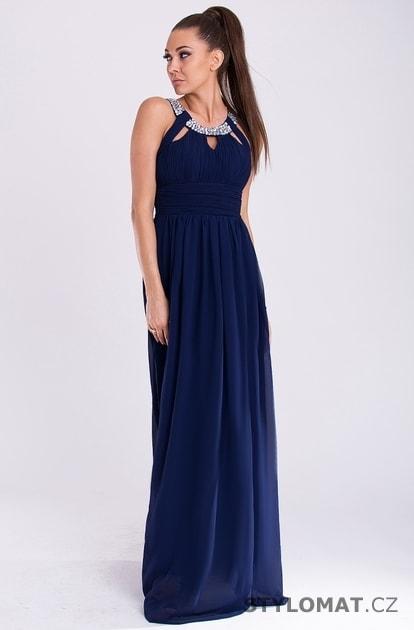 9893f7790d0c Eva a Lola šaty modré - Eva Lola - Dlouhé společenské šaty