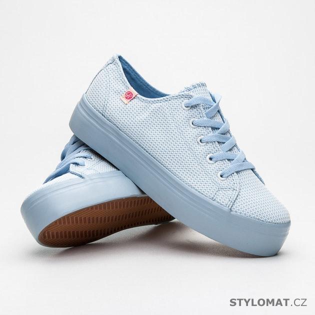730223d9f529 Pastelově modré tenisky na platformě - Kylie - Tenisky