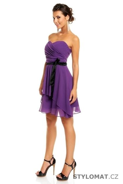 e2f90271111a Dámské fialové koktejlové šaty - Mayaadi - Krátké společenské šaty