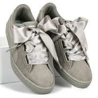 Puma suede heart pebble wn`s šedé