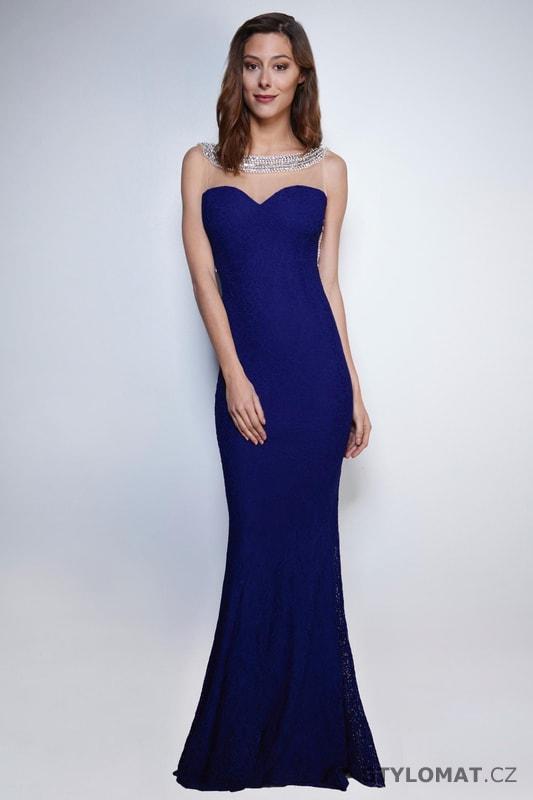 a422fa2fadaa Večerní šaty s holými zády královsky modré - Soky Soka - Dlouhé ...