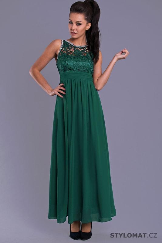 4f20a0aa7e84 Elegantní dlouhé plesové šaty zelené - Eva Lola - Dlouhé společenské ...