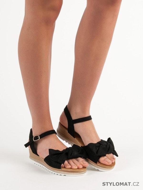 55150989ec74 Sandálky s mašlí černé - Bello Star - Sandále