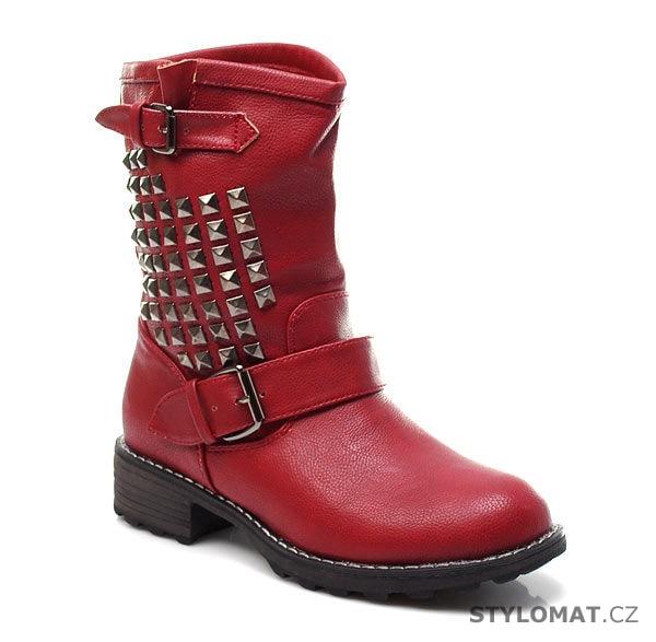 356fca566b Červené dámské boty - CNB - Workery