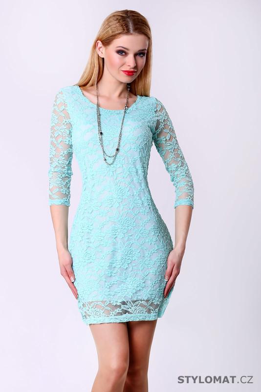 765df7f36e82 Trendy světle modré krajkové šaty - Drole de Copine - Party a koktejlové  šaty