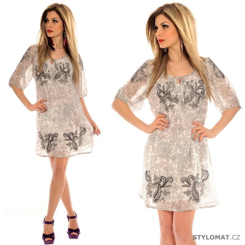 636eb14e45d9 Dámské volné bílé letní šaty - Fashion - Krátké letní šaty