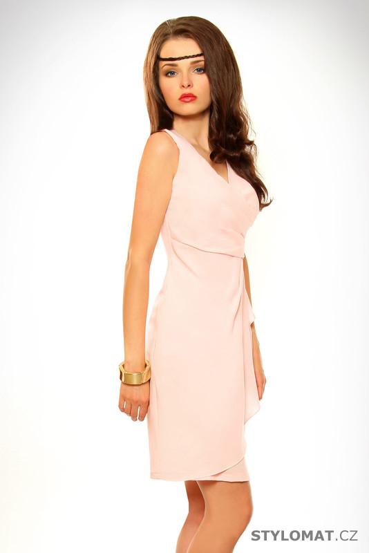 5cfbe4bcbd74 Dámské elegantní světle růžové šaty - Pink BOOm - Krátké letní šaty