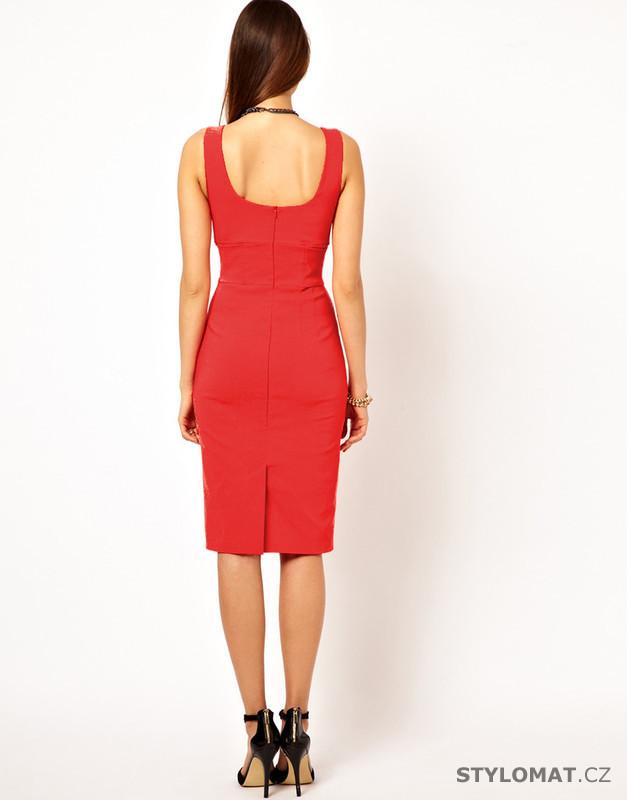 fcb21bc9edd9 Elegantní dámské šaty červené - Fashion H. - Party a koktejlové šaty