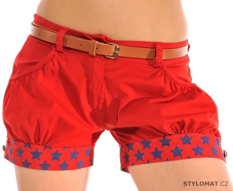 26a88004a433d Dámské červené šortky s opaskem - Fashion - Kraťasy